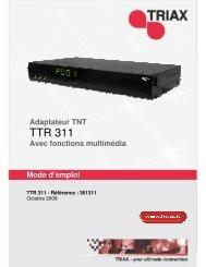 Manuel TTR 311 - Triax