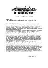 Verbandsanzeiger Teilbereich Ebenweiler Nr. 21-22-2012
