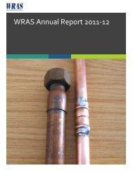 WRAS Annual Report 2011-12 - Water Regulations Advisory Scheme