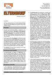 Elternbrief 3 2010/11 - Staufer Realschule