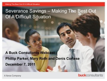 Severance Savings - Buckconsultants.com
