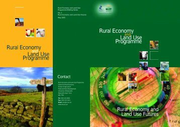 Rural Economy and Land Use Futures - Relu Knowledge Portal