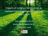 Impact of turfgrass fertilization on nutrients leaching through ...