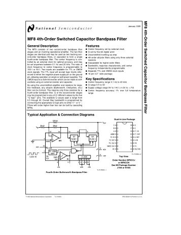 MF8 4th-Order Switched Capacitor Bandpass Filter
