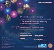 First Announcement - The Hong Kong Society of Nuclear Medicine
