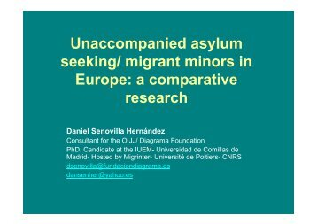 Unaccompanied asylum seeking/ migrant minors in Europe: a ...