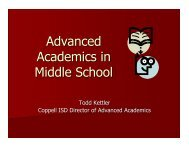 Advanced Academics PowerPoint Presentation - Coppell ...