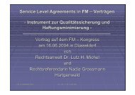 Service Level Agreements in FM – Verträgen ... - dr. lutz h. michel