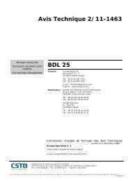 Avis Technique BDL 25mm