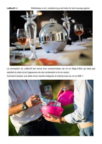 LaBoul® m Distributeur à vin, cocktail et jus de fruits d'u ... - Cave SA