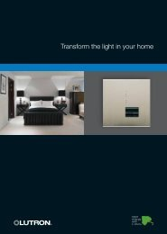 Transform the light in your home - Lutron Lighting Installation ...