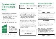 Sportverhalten in Deutschland 2005 - SOKO Institut