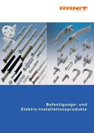 Übersichtskatalog 2011 (pdf) - RANIT Befestigungstechnik GmbH