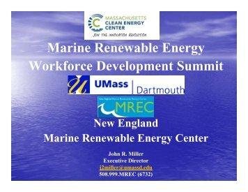 Marine Renewable Energy Workforce Development Summit - MREC