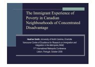 The Immigrant Experience of Poverty in Canadian Neighbourhoods ...