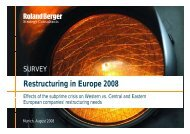 Restr ct ring in E rope 2008 Restructuring in Europe 2008
