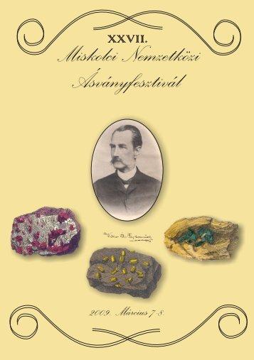 mf2009.pdf (1,8 MB) - Herman Ottó Múzeum, Ásványtár
