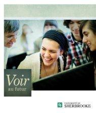 Brochure institutionnelle - Université de Sherbrooke