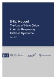 The use of nitric oxide in acute respiratory distress syndrome