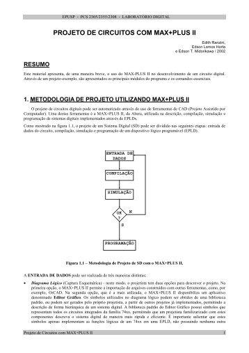 projeto de circuitos com max+plus ii - PCS - USP