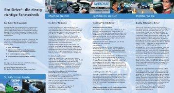 Eco-Drive®– die einzig richtige Fahrtechnik - Rallye21