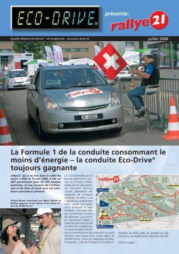 la conduite Eco-Drive® toujours gagnante - Rallye21