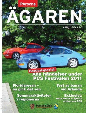 Alla händelser under PCS Festivalen 2011 - Porsche Club Sverige