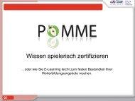 POMME - Wissen spielerisch zertifizieren oder ... - wbv-Fachtagung