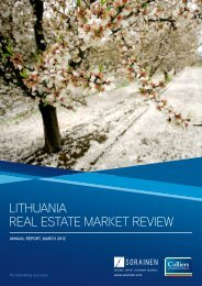 LITHUANIA REAL ESTATE MARKET REVIEW - Colliers