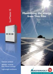 Maximizing the energy from Thin Film - Crompton Controls