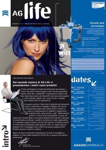 Nel secondo numero di AG-Life vi presenteremo i nostri nuovi prodotti!