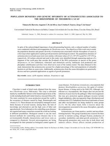 thesis on actinomycetes
