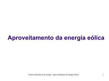 Aproveitamento da energia eólica - Ufersa