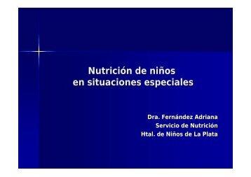 Nutrición de niños en situaciones especiales