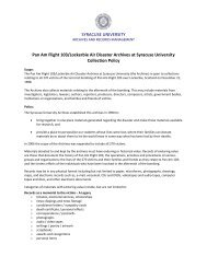 Pan Am Flight 103 Archives Collection Policy - Archives - Syracuse ...