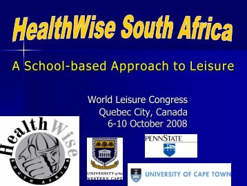 A School-based Approach to Leisure based Approach to Leisure