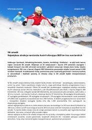 Ski amadé Największa atrakcja narciarska Austrii oferująca 860 km ...