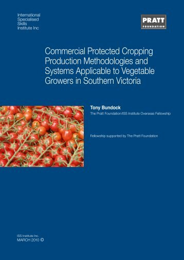 Commercial Protected Cropping Production Methodologies and ...