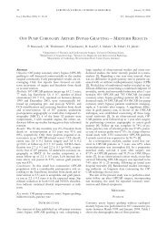 off pump coronary artery bypass grafting – midterm ... - ResearchGate