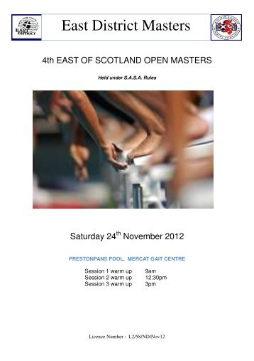 East District Masters - Swim Scotland