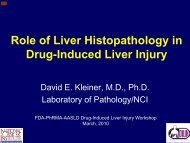 Role of liver histopathology in DILI - AASLD