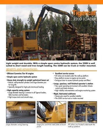 220D loader spec sheet