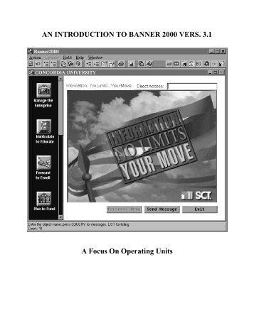 SCT Banner Student Admissions Training Workbook