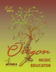 OMEA Fall 2012 Journal.pdf - Oregon Music Education Association