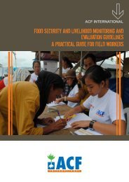 Food Security and LiveLihood Monitoring and evaLuation ...