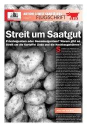 Streit um Saatgut - Aktion 3. Welt Saar