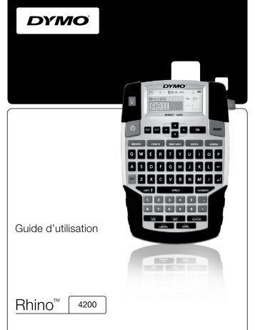 RHINO 4200 User Guide - DYMO