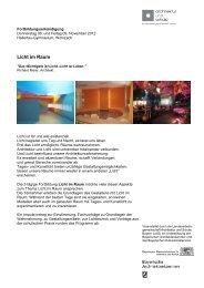 Licht im Raum - Architektur und Schule
