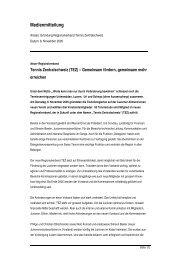 Pressetext Gründungsversammlung - Tennis Zentralschweiz
