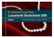 L kt D t hl d 2009 Luxusmarkt Deutschland 2009